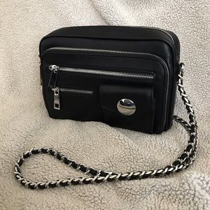 Zara Bags - Zara black and silver leather purse